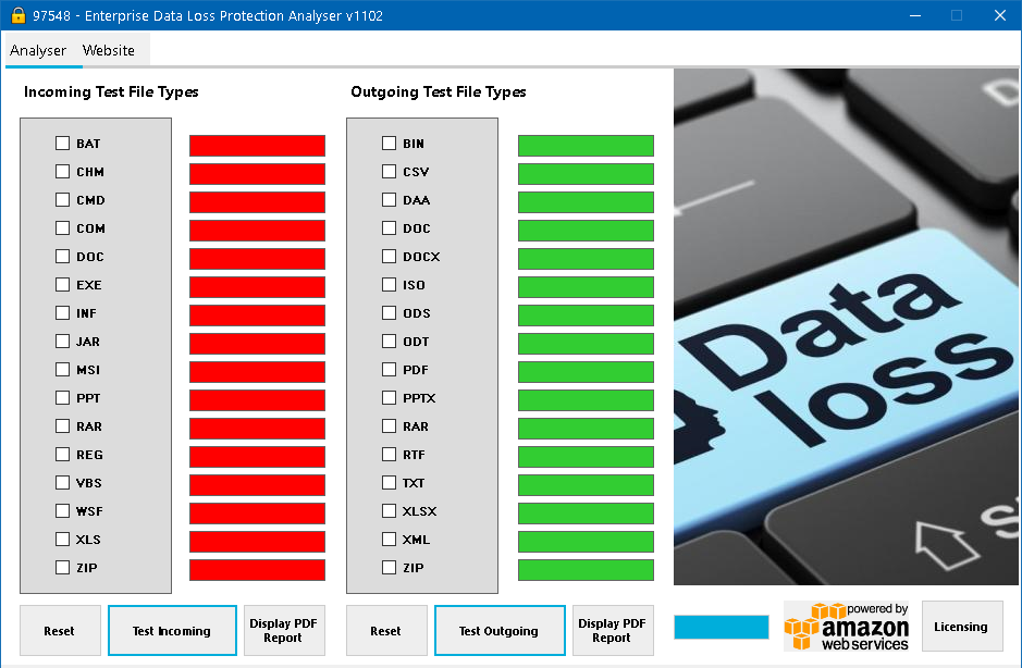 Data Loss Protection Analyser Image